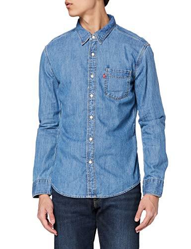 Levi's Sunset 1 Pkt Slim Camisa, Cotton Tencel Mid Worn, M para Hombre