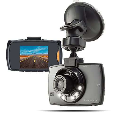 Car Camera, 170° Wide-Angle High-Definition Dash Cam Video Recorder, Portable Camera, 2.7-inch Video Recorder,with G Sensor, Parking Mode, Motion Detection, Loop Recording, Night Vision