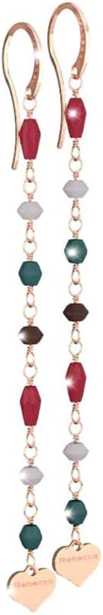 Rebecca orecchini per donna in argento rose pietre multicolor pepite SPEORR01