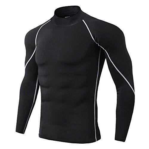 Coupe-Vent col Montant Cyclisme Jersey Sportswear Hommes Séchage Rapide Anti-Sueur Élastique Vélo T-Shirts Porter Tops Manches Longues pour Course Bicycle Racing