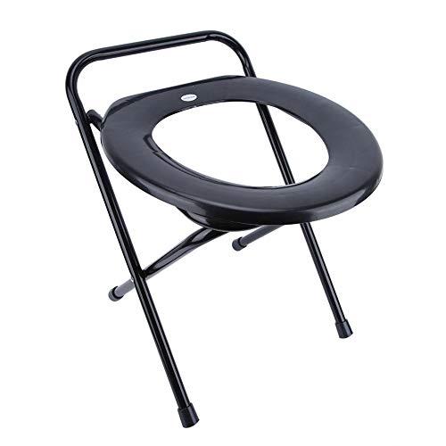 Klappbarer Nachttisch-Toilettenstuhl, tragbarer Toilettensitz mit Eisenrohranhebung und Sicherheitsrahmen am Bett, Toilettenstuhl für Erwachsene, Behinderte, ältere Menschen
