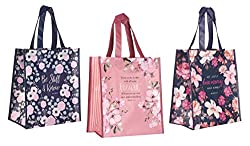 3 scriptural tote bags, christian gift ideas