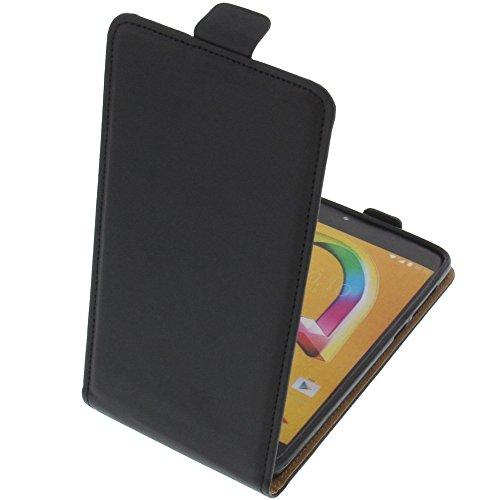 foto-kontor Tasche für Alcatel A5 LED Smartphone Flipstyle Schutz Hülle schwarz