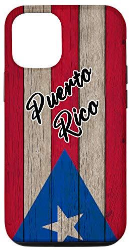 iPhone 12/12 Pro Bandera de Puerto Rico En Madera Vintage Boricua Pride Flag Case
