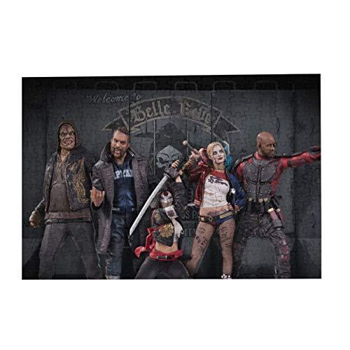 2016 Suicide Squad 300/500/1000 pieces / 3D HD puzzle for adult, kids puzzle game, home decoration