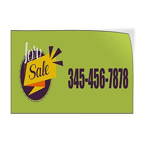 qidushop te koop Telefoonnummer Aangepaste Deur Decals Vinyl Stickers Zaken te koop Outdoor Groen 20 x 30 Metalen Decor Metalen Tin Tekens Outdoor Teken Verjaardagscadeau Grappig Teken Muur Art Decoratieve