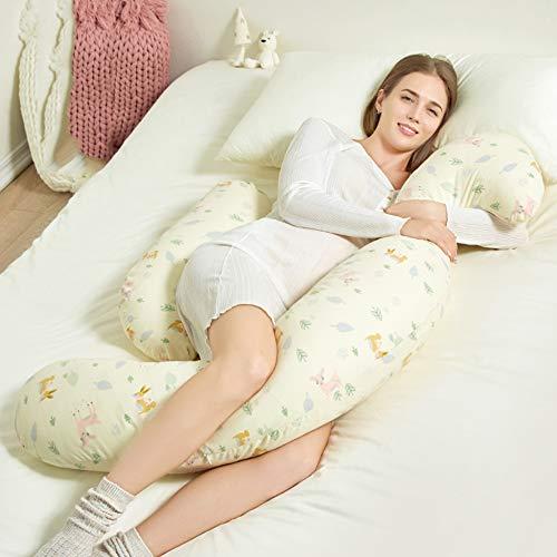 HAOWEN Ganzkörperkissen Für Schwangerschaft Und Mutterschaft Still- Und Stillkissen Mit Waschbarem Austauschbarem Baumwollkissenbezug Hoher Rückprall,A
