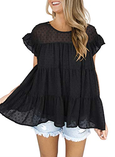 DOROSE Women's Summer Sleeveless Loose Shirt...