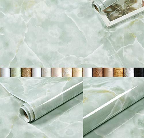 Liveinu Pegatinas para armarios de cocina, de PVC, autoadhesivas, para muebles, resistente al agua, para armarios, muebles, lámina autoadhesiva de mármol, azul, 60 x 300 cm