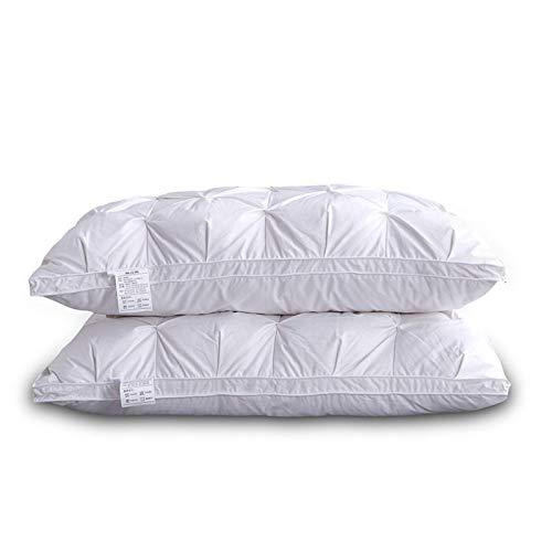 qianbanger Almohada de Plumas de Pan Trenzado, Almohada de Cinco Estrellas, Almohada para el Cuidado del Cuello, Almohada para Adultos, 48 * 74 cm, uno 1000g