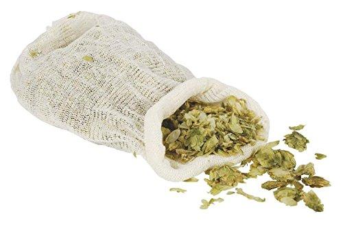 Bolsa de muselina para hasta 150G lúpulo Pellets–lúpulo calcetín–Bolsa reutilizable para lúpulo–Bolsas de especias–Bolsa de algodón para lúpulo–Estameña