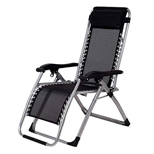 Campingstuhl Liegestuhl, Hochleistungsklappbarer Verstellbarer Lounge Sessel, Klappliegestuhl Mit Mit Wattepad Und Kühler Rattan-Matte,Ideal Für Garten Pool Hof Strand