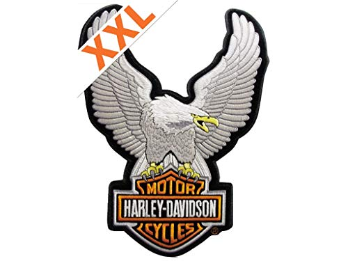 Harley-Davidson Aufnäher Upwing Eagle Groß Silber