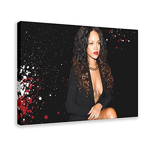 Rihanna - Barbados - Póster de Rihanna Greatest Hits - Póster de cantante 16 - Cuadro para decoración de pared, para sala de estar, dormitorio, marco de decoración de 60 x 90 cm
