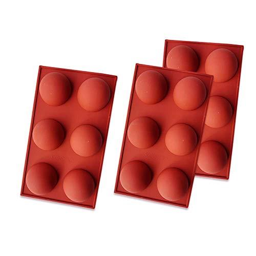Zueyen 3 Packungen Halbkugel-Silikonform mit 6 Hohlräumen, Backform zur Herstellung von Schokolade, Kuchen, Gelee, Dome-Mousse