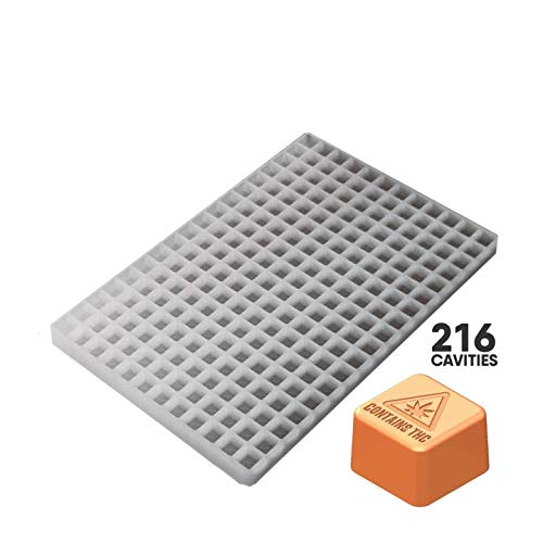 Great Deal! Small Massachusetts Cube Candy Silicone Mold 2.0mL Piece 216c FOOD GRADE PLATINUM SILICO...