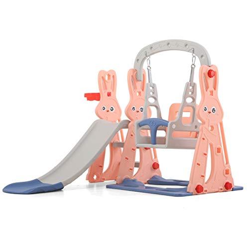 LJJOO Diapositiva Infantil Combinación Multifuncional Multifuncional para el hogar Juguete de plástico de plástico Diapositiva combinación de Swing Baby Sobble Diapositiva Toboganes Independientes
