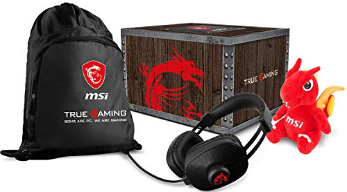MSI True Gaming Level 2 Loot Box with Lucky Plushie, Gaming Headset & Gaming Gear Bag
