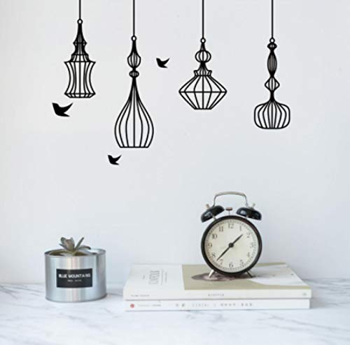 N\A wall stickers Creative bird cage wall stickers living room bedroom background decorative mural art decals home wallpaper detachable stickers