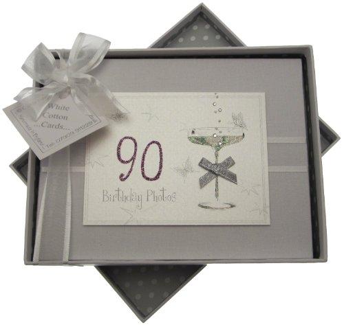 Petit album photo 90ème anniversaire avec verre coupé