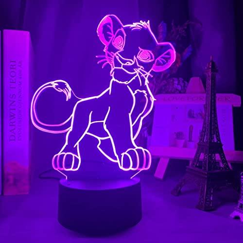3D Lion Tiger Tischlampe Usb Touch Switch Tischdekoration Schreibtisch Optische Täuschung 7 Lichter Farbwechsel Led Tischlampe Der Liebe Brithday Kids Dekoration Spielzeug Geschenk