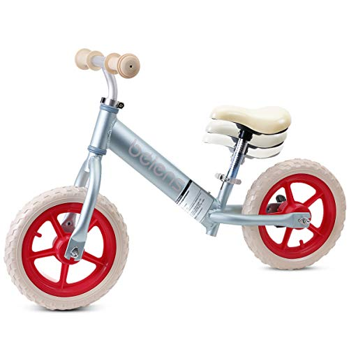 Kids Balance Bike, Aluminum Toddler Bike for 2-6 Years Old, Lightweight Training Wheels 12 Inch Bike, No Pedal Bicycle, Adjustable Height, Indoor and Outdoor Activities