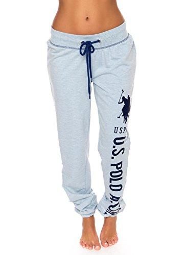 U.S Polo Assn Essentials Womens French Terry Jogger Lounge Sleep Sweatpants Pajamas