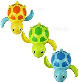 Sponsored Ad - D'Design Set of 3 Baby Bathtub Wind up Turtle Toys Fun Multi Colors Swimming Bath tub, Beach, Pool Playset ...