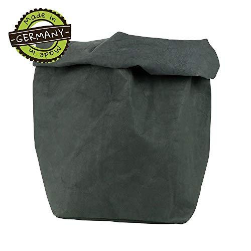 papyrMAXX oprolbox Stuff maat XXL duurzaame veelzijdige-mand van wasbaar papier 0,55cm sterk I Opslagmand voor bad - en kinderkamer etc. I cadeaubuidel planten planter anthraciet