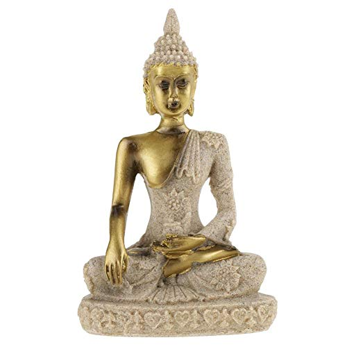 Buddha Statue, Bring Good Luck 11x6.5x3.8cm Hand Carved Buddha Statue, Gift Home for Family Collections