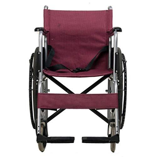 ZNZ Silla de Ruedas para Personas Mayores, Portátiles Frenos de Desplazamiento Móviles Tránsito Mano Ligera Movilidad Dispositivo para Discapacitados Tercera Edad Y Los Discapacitados