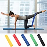 Premium Resistance Bands Set, Workout Bands, Exercise Bands, for Legs Ankle Straps for Musle Training, Physical Therapy, Shape Body, Home Workouts, Set of 5 (Multicolor)