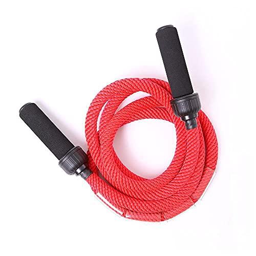 66 Fit - Corda per Saltare, Pesante, Rosso (Rosso), N/A