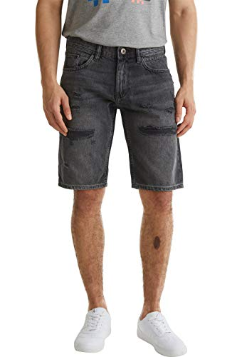 edc by Esprit Herren 040CC2C307 Jeans-Shorts, 911/BLACK DARK WASH, 33