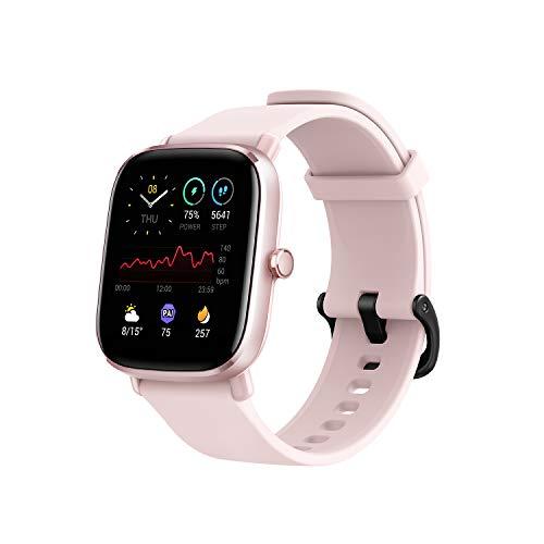 Amazfit GTS 2 Mini - Reloj Inteligente Smartwatch Duración de Batería14 días 70 Modos Deportivos Medición del Nivel SpO2 Monitorización de Frecuencia Cardíaca, (Color Rosa)