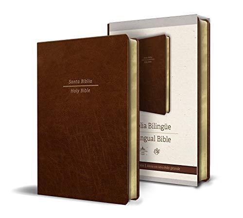 Biblia Bilingüe Reina Valera 1960/ESV Tamaño grande letra grande piel marrón