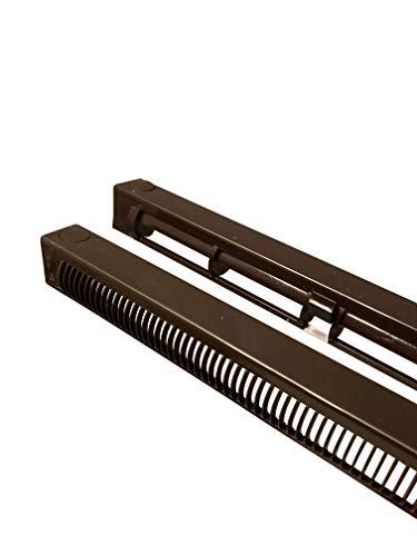 Fenster-Entlüftung, 440 mm, Dunkelbraun, für Palisander-Mahagoni, uPVC, Doppelverglasung und Holzfenster, reduziert Kondensation, Feuchtigkeit und Dampf in Fenstern, voll verstellbar