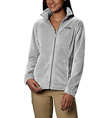 Columbia womens Benton Springs Full Zip Fleece Jacket, Cirrus Grey Heather, Medium US
