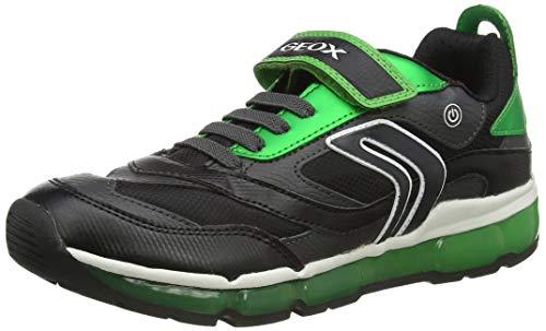 Geox J Android Boy B, Zapatillas Niños, Negro (Black/Green), 31 EU