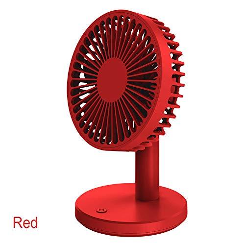 Ruosaren Mini ventilador de escritorio USB personal de escritorio con 7 aspas, para el hogar, cama, oficina y escritorio pequeño ventilador eléctrico, 3 velocidades, inclinación hacia arriba ajustable