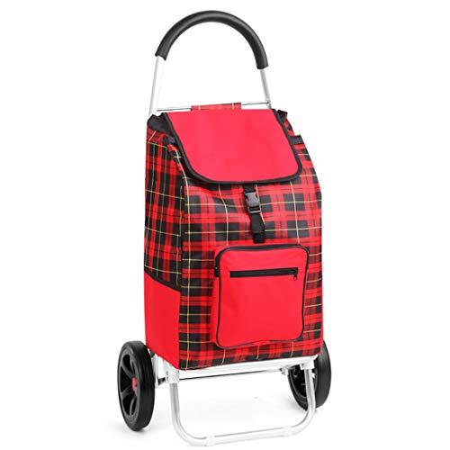 RTTgv Einkaufstrolleys Tragbare Radverschönerung des Einkaufswagens und der beweglichen zusätzlichen Tasche des Einkaufskorbs