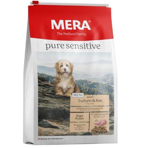 MERA pure sensitive Mini Adult Truthahn und Reis Hundefutter – Trockenfutter für die tägliche Ernährung kleiner nahrungssensibler Hunde – 1 x 4 kg