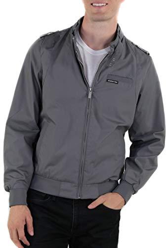 Members Only Men s Original Iconic Racer Jacket, Gray, Medium