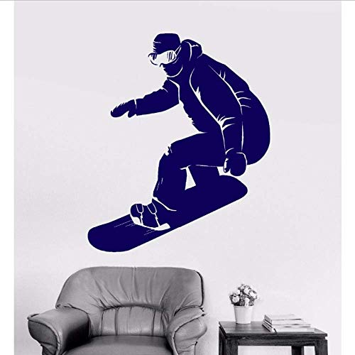 Kunst Wandaufkleber Snowboard Wandaufkleber Abnehmbare Vinyl Kunst Poster Snowboarder Extreme Aufkleber Wandbild Athlet Decor 50X60 Cm