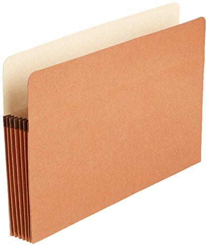AmazonBasics File Folders Pocket , Straight-Cut Tab, 5 1/4-Inch Expansion, Legal Size, Redrope, 50-Pack - AMZ74234