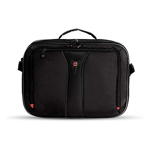 SWISSGEAR Jasper Expandable Organizer 15-inch Laptop Case | TSA-Friendly Carry-on | Travel, Work, School | Men's and Women's- Black