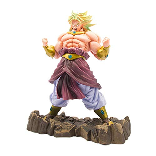 JNTM Anime Static Abbildung Dragon Ball 26cm Broly Legendary Super Saiyan Modell Statue Realistische Comic PVC Figur Dekoration