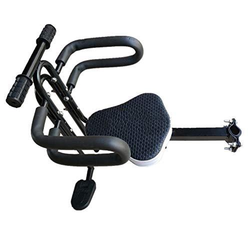 Qwhone Silla Delantera para niños para Bicicleta Electrica para Bici Electrica F Wheel DYU con Cómodo Asiento, Sillín de E-Bike para Niños Asiento Delantero Plegable, Pedal con Mango