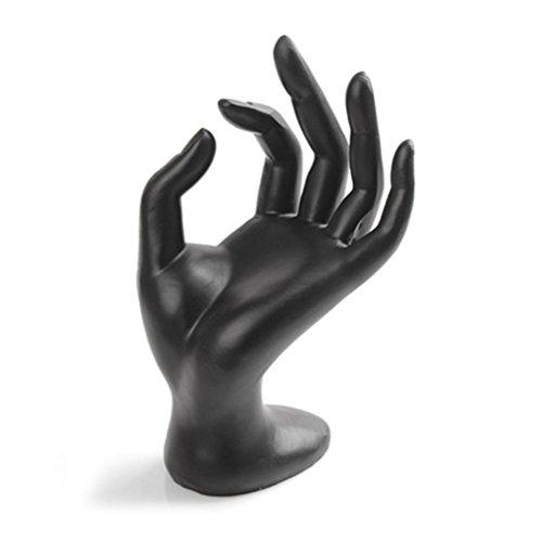 LUOEM Hand Schmuckständer, OK Dekohand Schmuckhalter Ringhalter für Schmuck Aufbewahrung (schwarzes Harz)