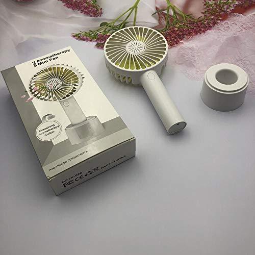 whmyz Handheld small fan aromatherapy small fan handheld vertical USB multifunction with base-Lemon yellow_10.5 * 21.5CM